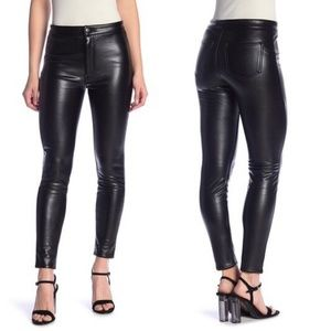 Nordstrom Faux Leather Slimming Stretch Pants A524